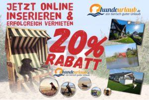 20% Rabatat für Vermieter auf hundeurlaub.de