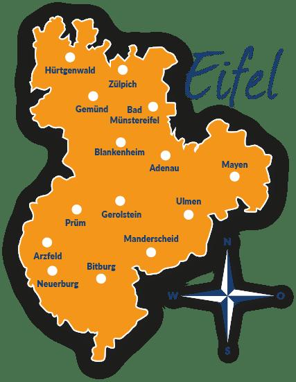 Nationalpark Eifel Karte.Reiseführer Eifel Mit Hund Tipps Und Infos