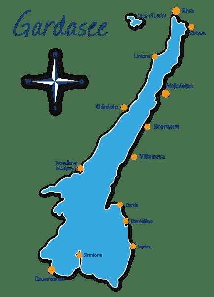 gardasee karte ▷ Reiseführer Gardasee mit Hund   Tipps und Infos