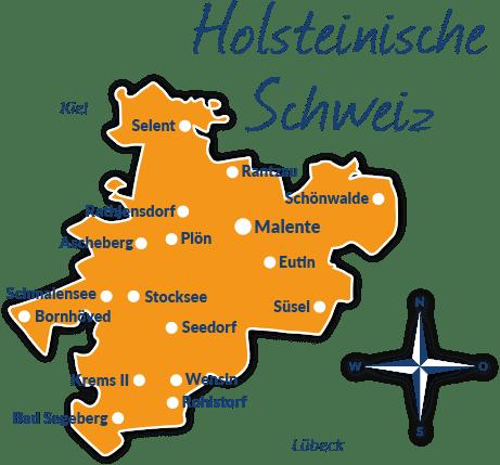 Holsteinische Schweiz Karte.Reisefuhrer Holsteinische Schweiz Mit Hund Tipps Und Infos