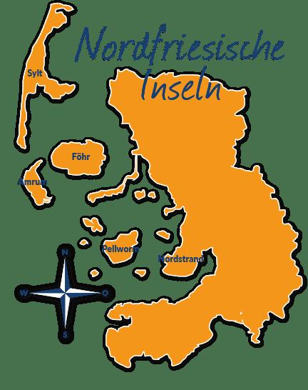 Nordfriesische Inseln Karte.Reisefuhrer Nordfriesische Inseln Mit Hund Tipps Und Infos