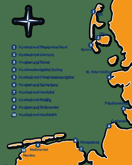 Deutsche Nordseeküste Karte.10 Der Schönsten Hundestrände An Der Nordsee Reisetipps