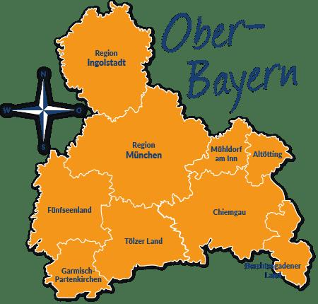 Karte Oberbayern.Reiseführer Oberbayern Mit Hund Tipps Und Infos