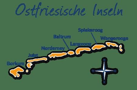 Nordfriesische Inseln Karte.Urlaub Mit Hund Auf Den Ostfriesischen Inseln Reiseinfos