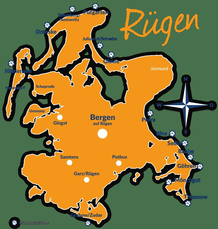 Karte Rügen.Hundestrände Auf Rügen übersicht Lage Und Infos