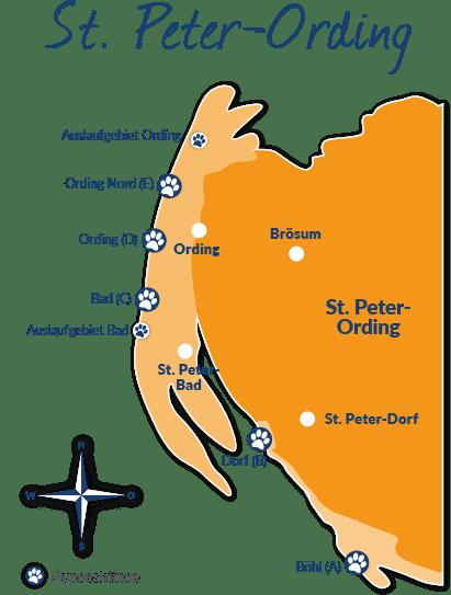 Sankt Peter Ording Karte.Reiseführer St Peter Ording Mit Hund Tipps Und Infos