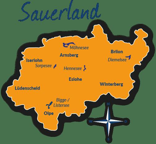Sauerland Karte Berge.Reisefuhrer Sauerland Mit Hund